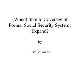 (When) Should Coverage of Social Security Systems