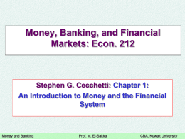 Chapter 15: Financial Markets and Expectations