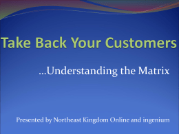 Take Back Your Customers - Lyndon Area Chamber of Commerce