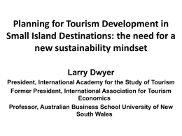Planning for Tourism Development in Small Island Destinations