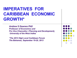 imperatives for caribbean economic growth