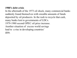 5. International Debt Crisis:a