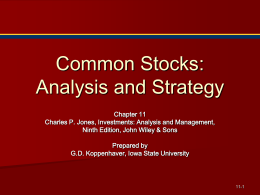 Common Stock: Analysis and Strategy - it