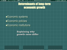 Principles of Economic Growth