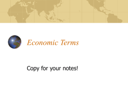 Economic Terms Powerpoint