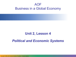 AOF Business in a Global Economy
