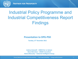 Unido Industrial Competitiveness and Policy