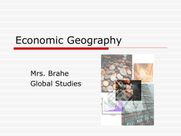 Economic Geography Terms