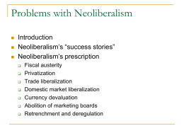 Problems with Neoliberalism