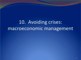Maintaining macroeconomic stability