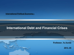 International Political Economy--