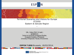 Territorial Scenarios and Visions for Europe ET2050 Eastern