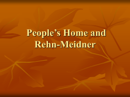 people`s home and Rehn-Meidner