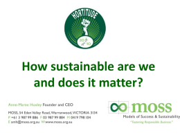 How sustainable are we and does it matter?