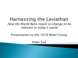 Harnessing the Leviathan: How the World Bank needs to change to