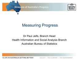 Measuring Progress - National Statistical Service