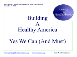 HealthePeople - Achieving a Healthy America