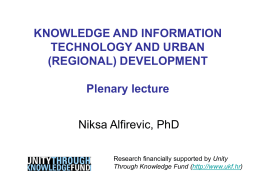 Power-Point presentation of the public lecture