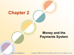 Chapter 2 Money and the Payments System