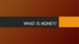 what is money? - Business at Sias
