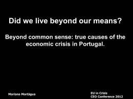 Did we live beyond our means? - Corporate Europe Observatory