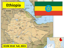 Note of Ethiopia - Introduction to Economic Development