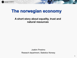 Norwegian Economy
