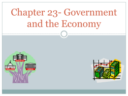 Chapter 23 Government and the Economy