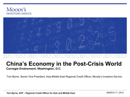 China`s Economy in the Post