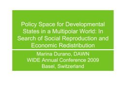 Policy Space for Developmental States in a Multipolar World: In