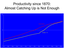 Productivity since 1870: Almost Catching Up is Not Enough