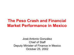 The Peso Crash and Financial Market Performance in Mexico