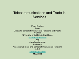 Telecommunications and Trade in Services