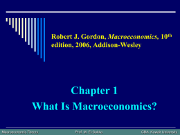 How Macroeconomics Affects our Everyday Lives Productivity growth