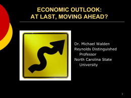 economic outlook: at last, moving ahead?