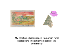 My practice-Challenges in Romanian rural health care