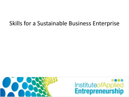 Presentation 2 - Enterprise and Entrepreneurship