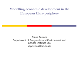 Modelling economic development in the European Ultra
