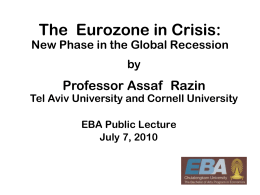 Assaf Razin: The Next Stage of the Global Financial Crisis The