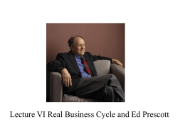 Lecture VI Real Business Cycle Models