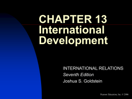 CHAPTER 13 International Development