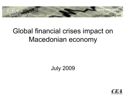 Global Financial Crises Impact on Macedonian Economy