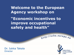 General introduction to GP - European Agency for Safety & Health at