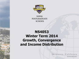 Introduction -- Growth, Convergence and Income Distribution