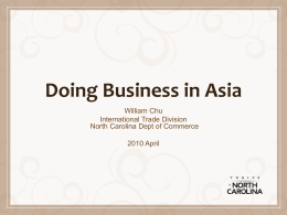 Doing Business in the Pacific Region