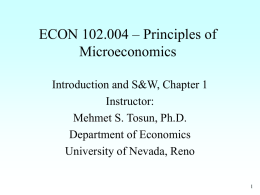Macroeconomic Issues - University of Nevada, Reno