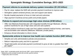 Chartpack—Confronting Costs: Stablilzing U.S. Health Spending