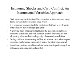 Economic Shocks and Civil Conflict: An Instrumental Variables