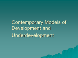 LS5: Contemporary Models of Development and Underdevelopment