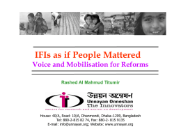 Session 5 - IFIs as if people mattered